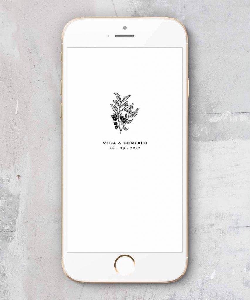 invitaciones digitales minimalistas